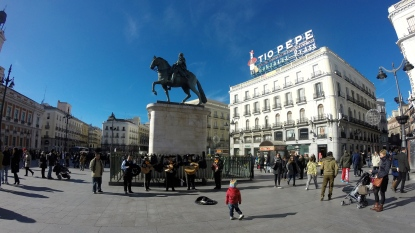 The first picture I took in Madrid featuring Puerta del Sol and a mariachi band!