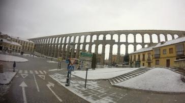 The Roman aqueduct in Segovia was truly breathtaking.