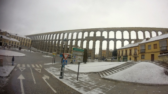 The Roman aqueduct in Segovia was truly breathtaking.