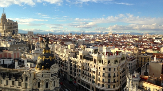 The Circle de Bellas Artes is a building where you take an elevator up to the highest floor to enjoy an amazing view of Madrid!