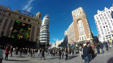Cine Callao is known for its classical style and the most famous movie theater in Madrid.