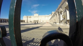 The view from behind the gates of Palacio Real. I didn't have time to take the tour that day but I have to go back for sure.