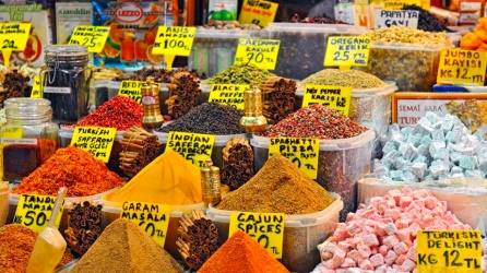 Spices are a very important part of every dish here and it is possible to find dried herbs and spices everywhere. The Spice Bazaar is a market dedicated solely to selling local spices and dried herbs and teas.