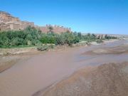 The muddy river in Kasbah is not suitable for swimming, but fun to cross!