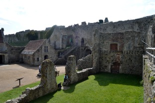 Most of the buildings are still standing, a village that now houses cafes and restaurants for the tourists visiting the heritage site.