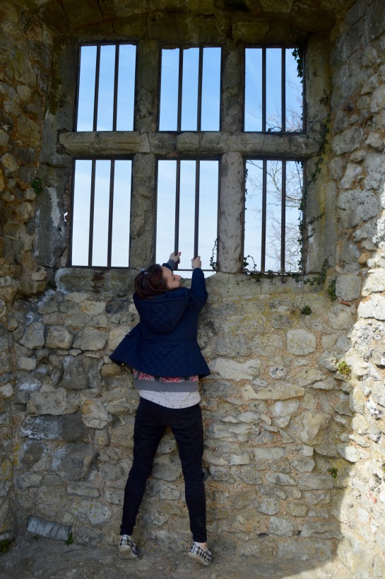 Note: Although none of Hannah's reenactments are historically accurate, it is said that the king could never get past the barred windows in his room.