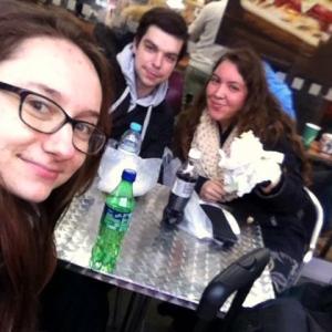 Hannah, me, and Sam eating at Subway