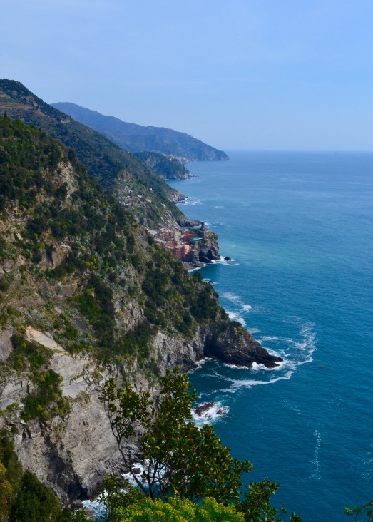 Vernazza comes into view from time to time, reminding hikers that their destination is not far away.