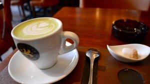 Four Square helped me satisfy my Matcha Latte craving in Cluj-Napoca, Romania
