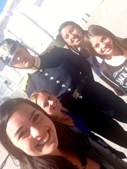 Yeah, we took a selfie with a member of the Royal Guard. And he even smiled (a little). No big deal.