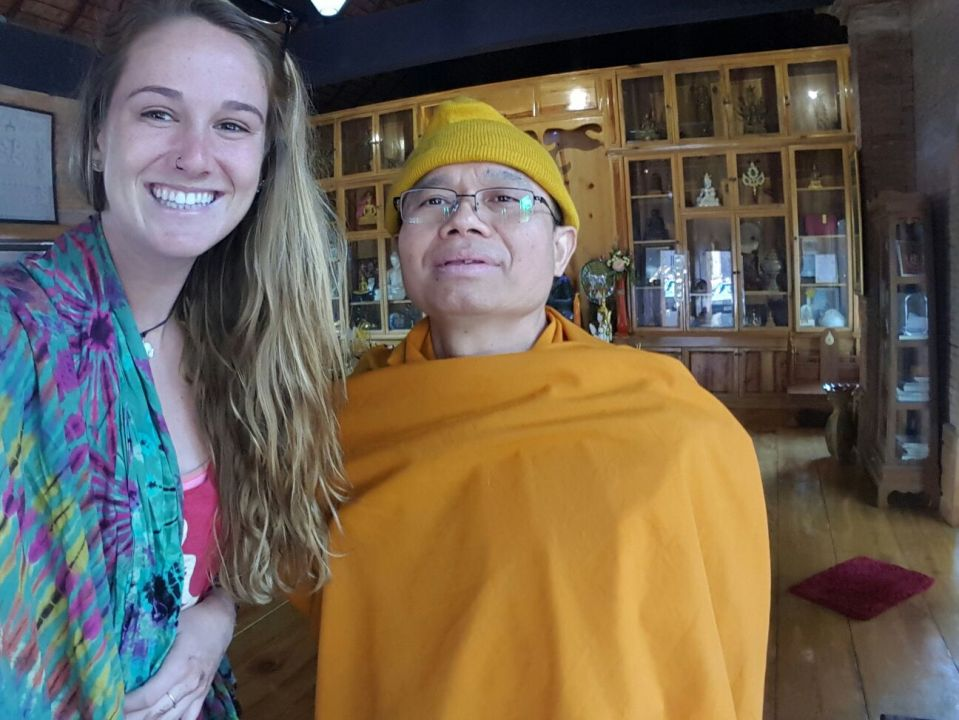 Best selfie I'll ever take: A Day with a Monk in Chiang Mai.