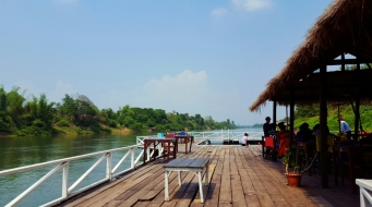 Floating Restaurant on the river at Riverside Eco-lodge Resort in Vientiane