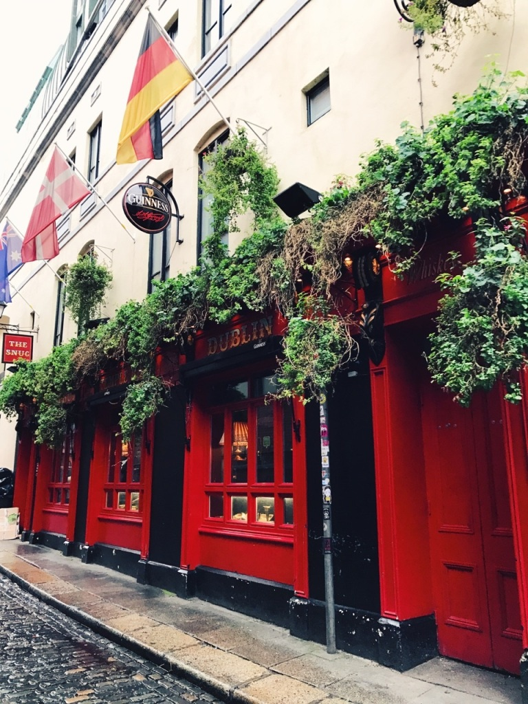 The Temple Bar area on our walking tour.