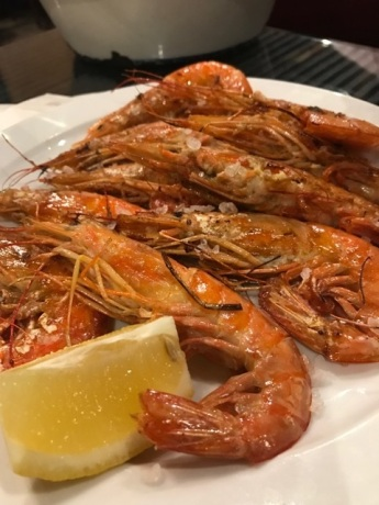 Shrimp in garlic butter.