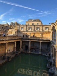 An ancient Roman bath in Bath, England.