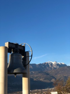 The Bell of Peace - a World War I Memorial made of melted canons from the war.
