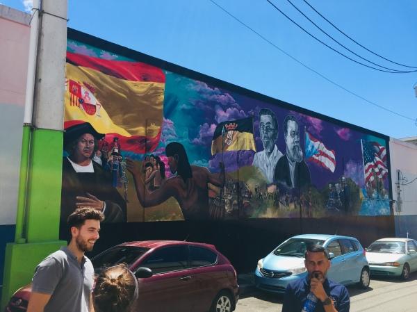 Street mural in Yauco.