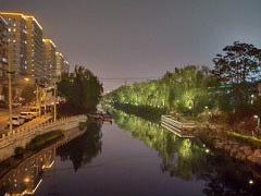 Night river scene in China