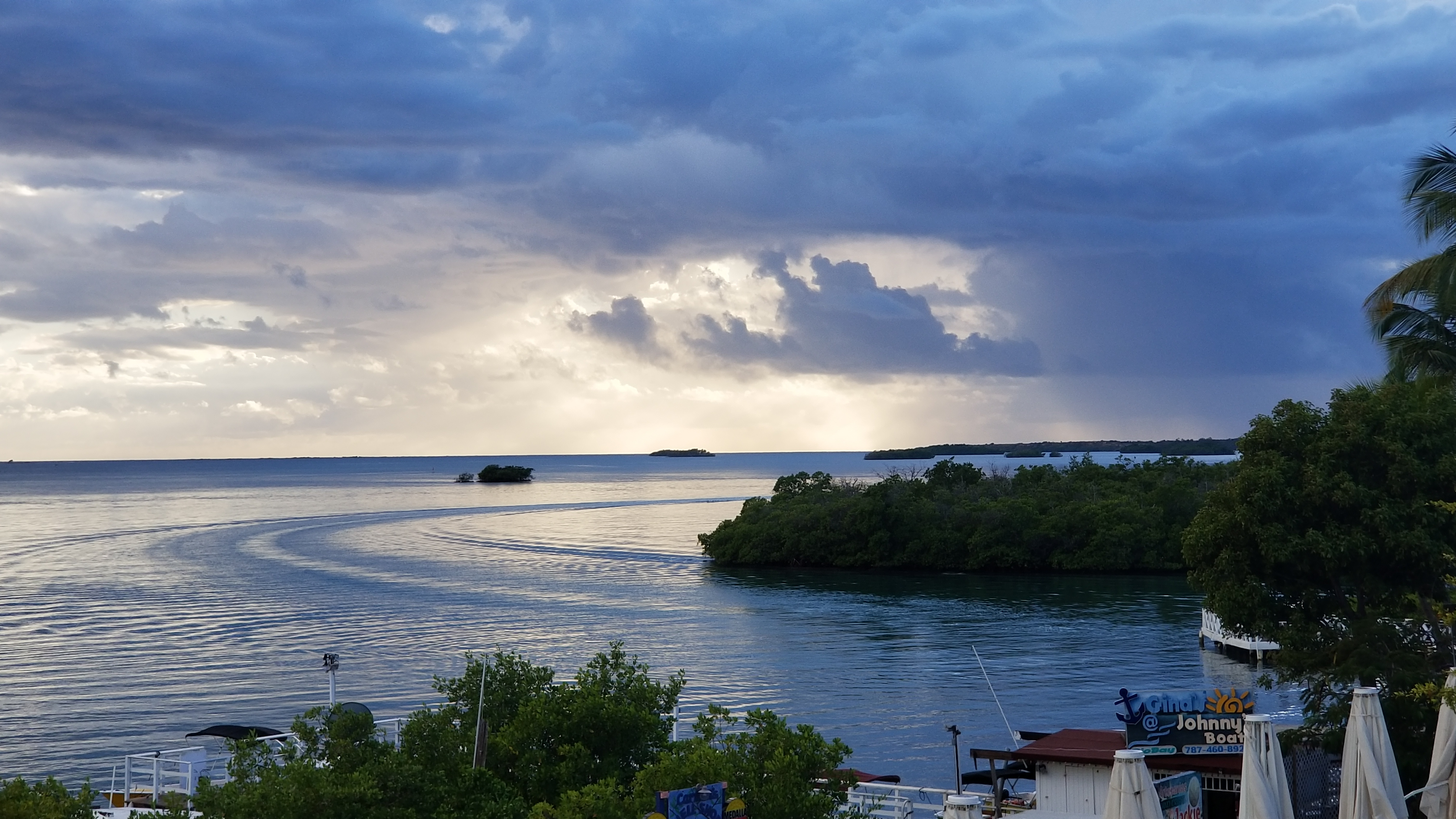 Bay in Puerto Rico under threatening skies